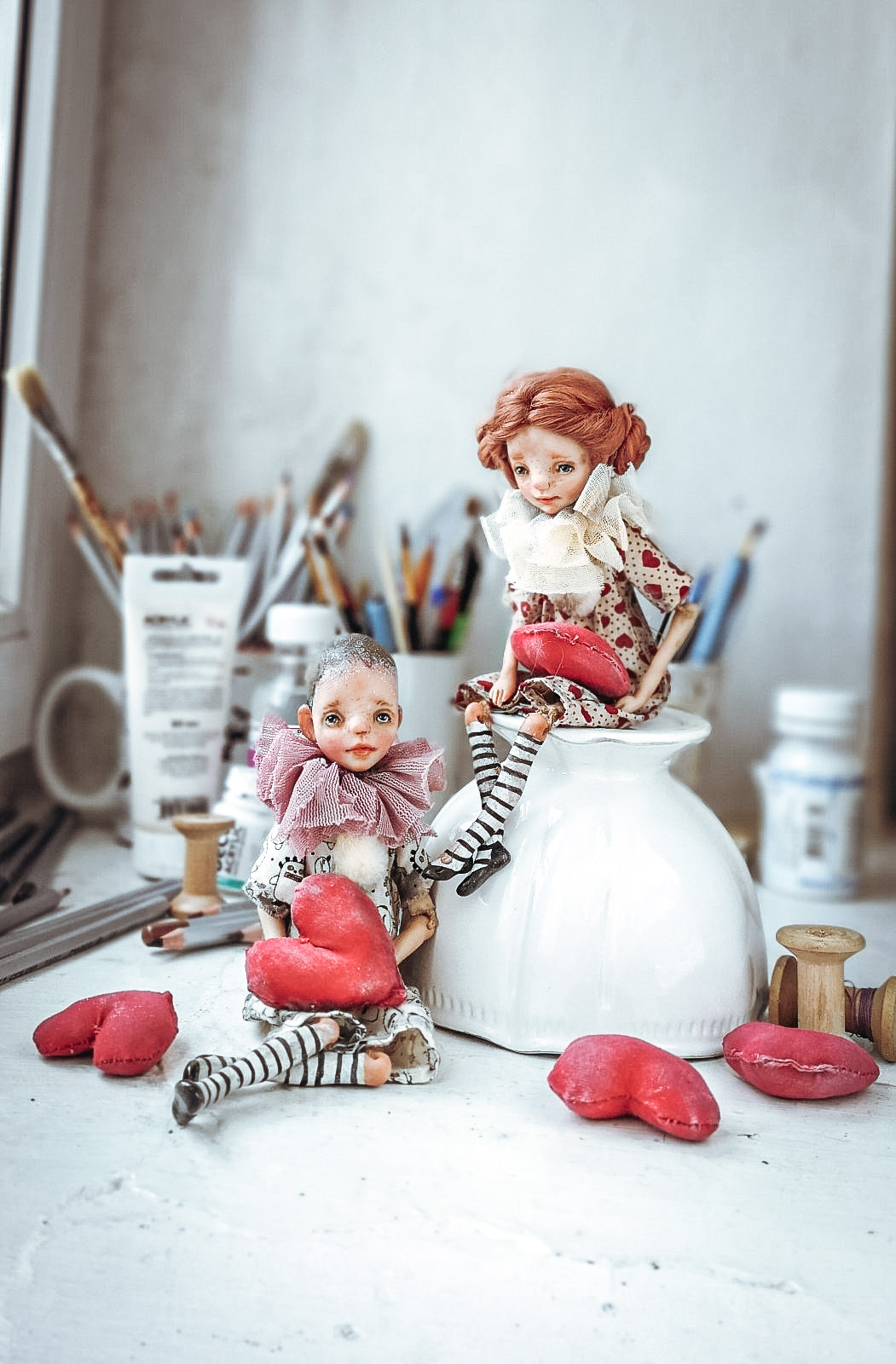 "The  Valentines ""littles"" by Helena Oplakanska at the Dollery"
